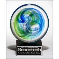 2107  Art Glass Disk